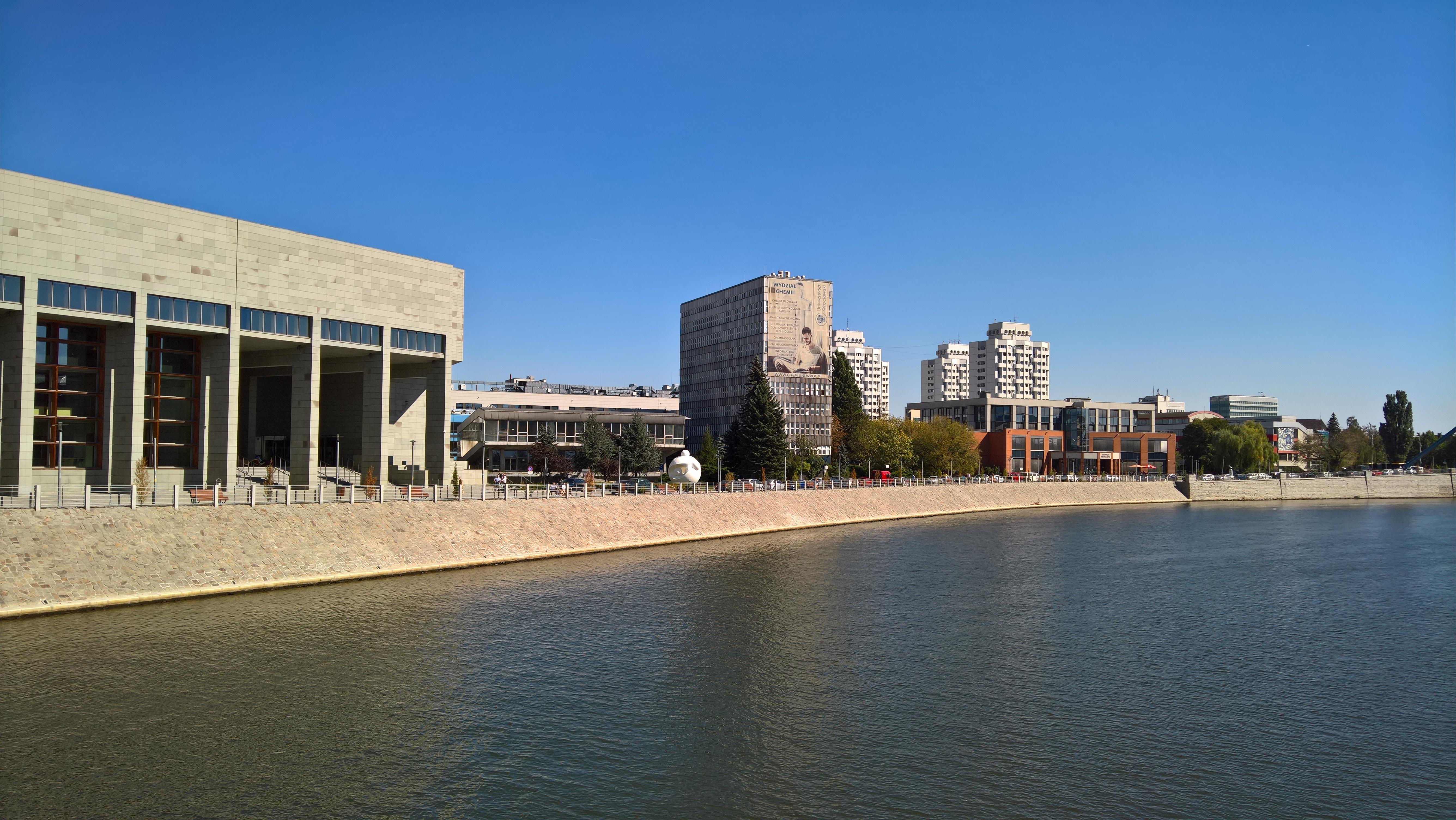 The beautiful Grunwaldzki Campus of the University of Wrocław